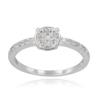 DB Designs Sterling Silver 1 6ct TDW Diamond Round Promise Ring