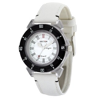 Sector Women's 'Expander 90' White Leather Watch