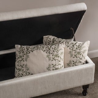 Chantelle Fabric Storage Ottoman by Christopher Knight Home