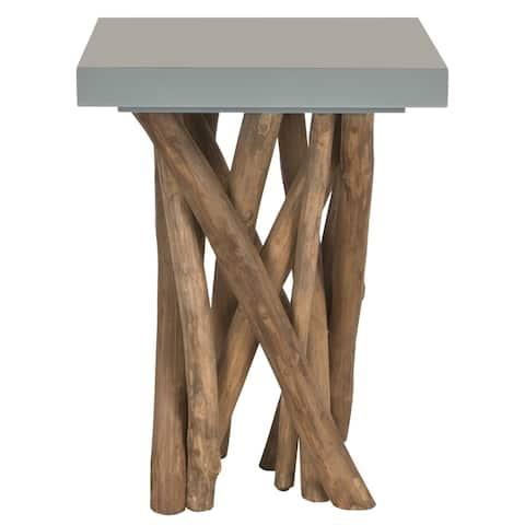 "Safavieh Hartwick Grey End Table - 15"" x 15"" x 20"""