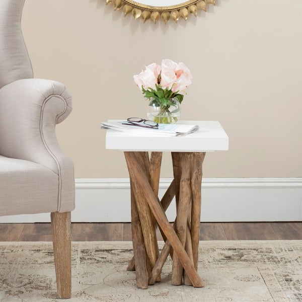 Safavieh Hartwick White End Table