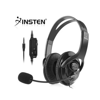 INSTEN Black Headset with Microfor Sony PlayStation 4 (PS4)