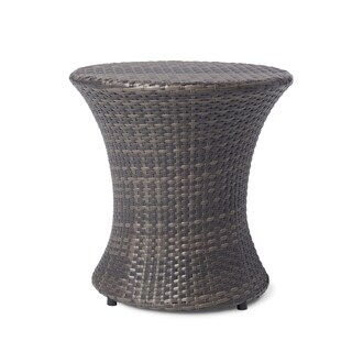 Adriana PE Wicker Outdoor Side Table by Christopher Knight Home
