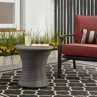 Adriana Outdoor Boho Wicker Accent Table by Christopher Knight Home