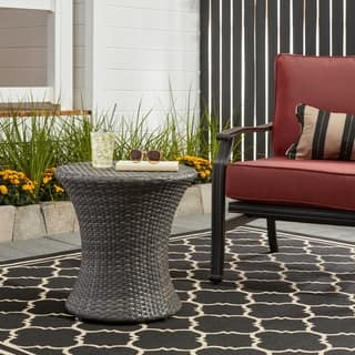 Adriana PE Wicker Outdoor Side Table by Christopher Knight Home|https://ak1.ostkcdn.com/images/products/8682199/P15937010.jpg?impolicy=medium