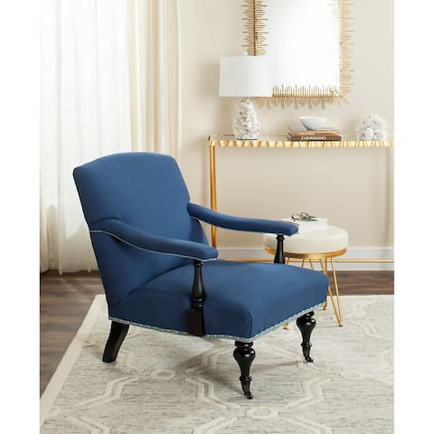 "Safavieh Devona Steel Blue Arm Chair - 27.6"" x 36.8"" x 35"""