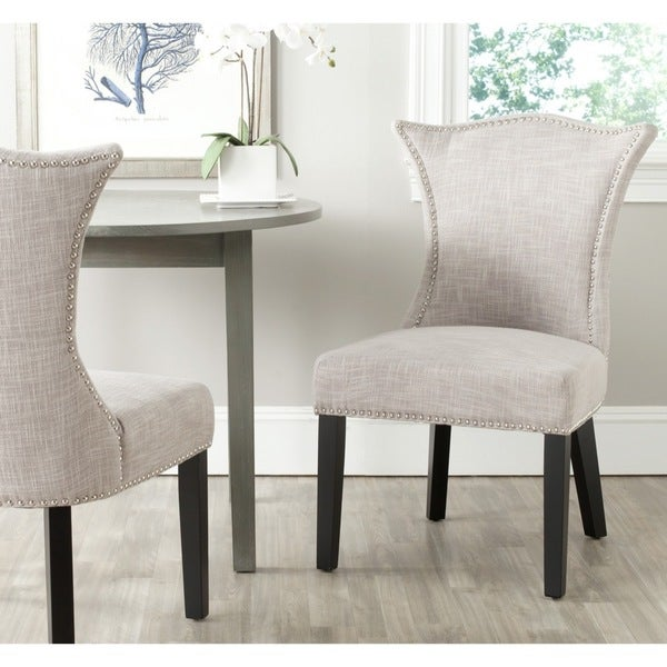 Safavieh En Vogue Dining Ciara Grey Side Chairs (Set of 2)