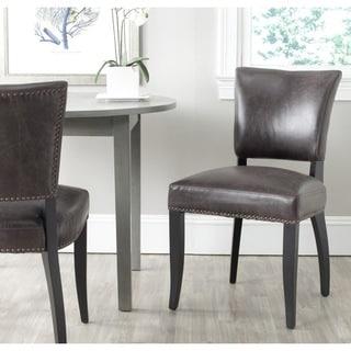 Safavieh En Vogue Dining Desa Antique Brown Dining Chairs (Set of 2)
