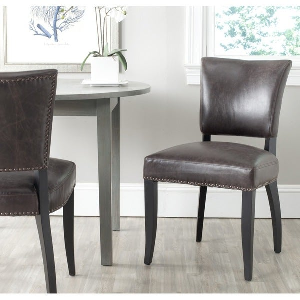 Brown Dining Room Chairs: Shop Safavieh Dining Desa Antique Brown Dining Chairs (Set