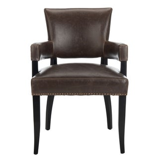 Safavieh En Vogue Dining Desa Antique Brown Arm Chair