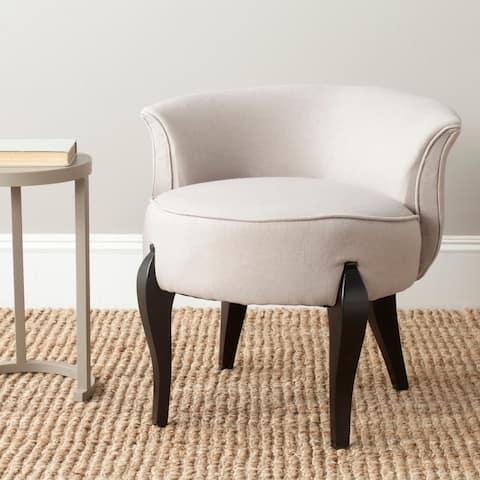 """Safavieh Mora Taupe Petite Vanity Chair - 23.4"""" x 24.8"""" x 22.4"""""""