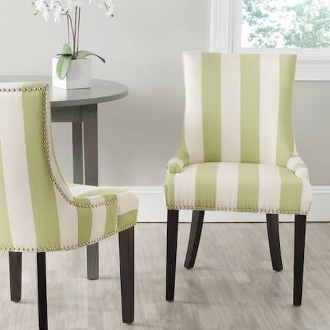 "SAFAVIEH Dining Lester Multi/Stripe Nailhead Trim Dining Chair (Set of 2) - 22"" W x 24.8"" L x 36.4"" H"