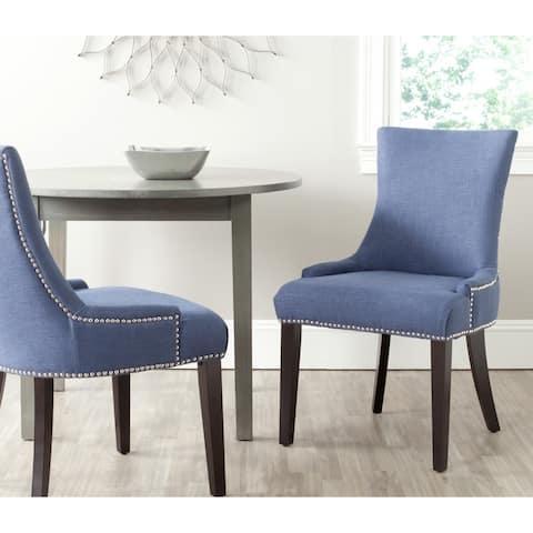 "Safavieh Dining Lester Light Denim Blue Chairs (Set of 2) - 22"" x 24.8"" x 36.4"""