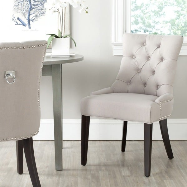 Salle A Manger Gris Taupe: Shop Safavieh Dining Lester Grey Dining Chair (Set Of 2