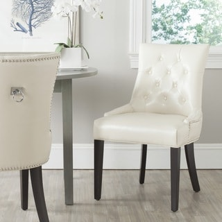 white leather dining chairs. Safavieh En Vogue Dining Harlow Off-White Ring Chair (Set Of 2) White Leather Chairs X
