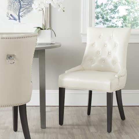 "SAFAVIEH Dining Harlow Cream Ring Chairs (Set of 2) - 22"" x 25.6"" x 36.4"""