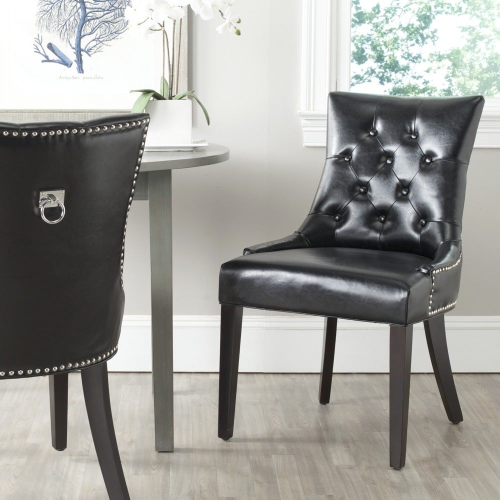 Safavieh En Vogue Dining Harlow Black Ring Chair (Set of ...