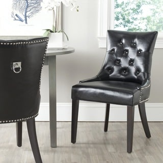 Safavieh En Vogue Dining Harlow Black Ring Chair (Set of 2)