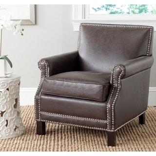 Safavieh Easton Antique Brown Club Chair