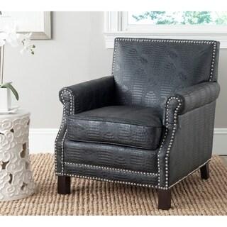 Safavieh Easton Black Croc Club Chair