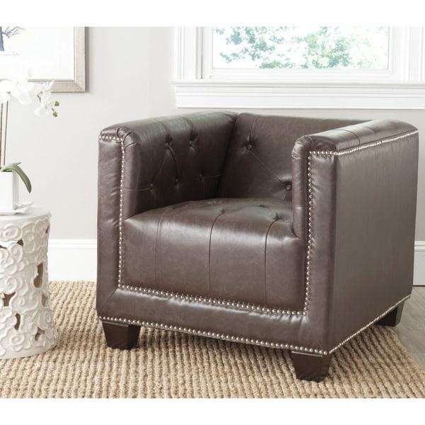 Safavieh Bentley Antique Brown Chair