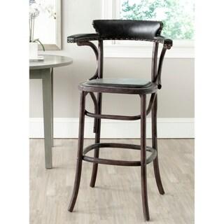 Safavieh Kenny Antique Black 29-inch Bar Stool