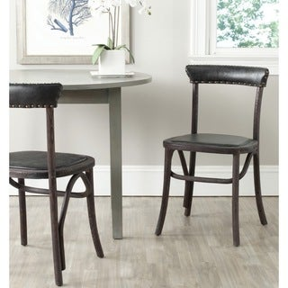 Safavieh Country Classic Dining Kenny Antique Black Dining Chairs (Set of 2)