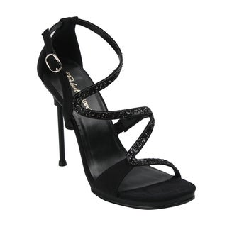 Fabulicious Women's 'Chic-24' Black Strappy Stiletto Heels
