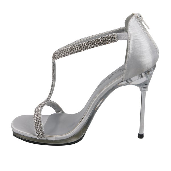 Fabulicious HEIRESS 22R Silver Shimmering Fabric Shoes