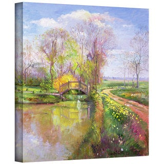 Timothy Easton 'Spring Bridge' Gallery-wrapped Canvas Art