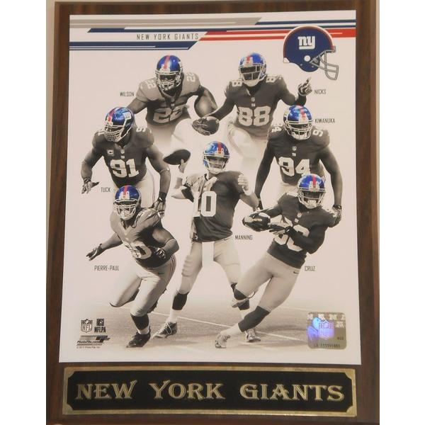 NFL 2013 New York Giants Plaque