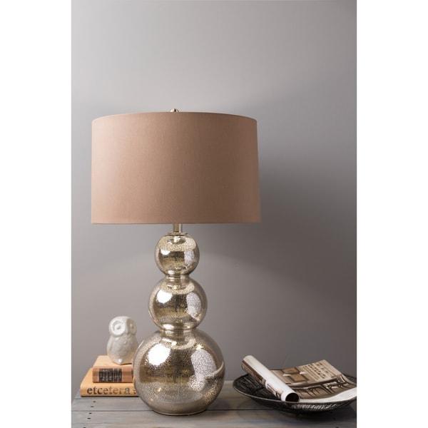 Glamorous Silver Glass Lamp