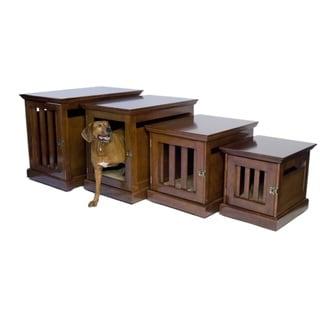 denhaus mahogany townhaus wooden pet crate furniture style dog crates
