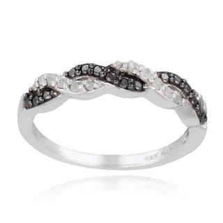 DB Designs Sterling Silver 1/8ct TDW Diamond Braided Ring (I-J, I2-I3)
