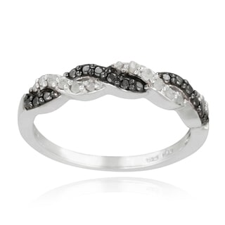 DB Designs Sterling Silver 1/8ct TDW Diamond Braided Ring
