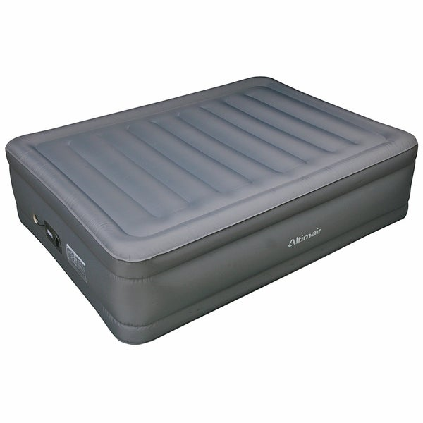Altimair Full-size Raised Air Bed Laminated Polyester Nylon Fabric Air Mattress