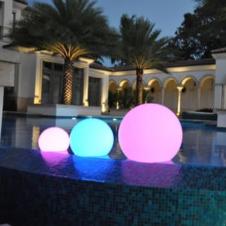 1 light outdoor lighting for less overstock publiclight led illuminated all in 1 floor hanging and floating sphere lantern aloadofball Image collections
