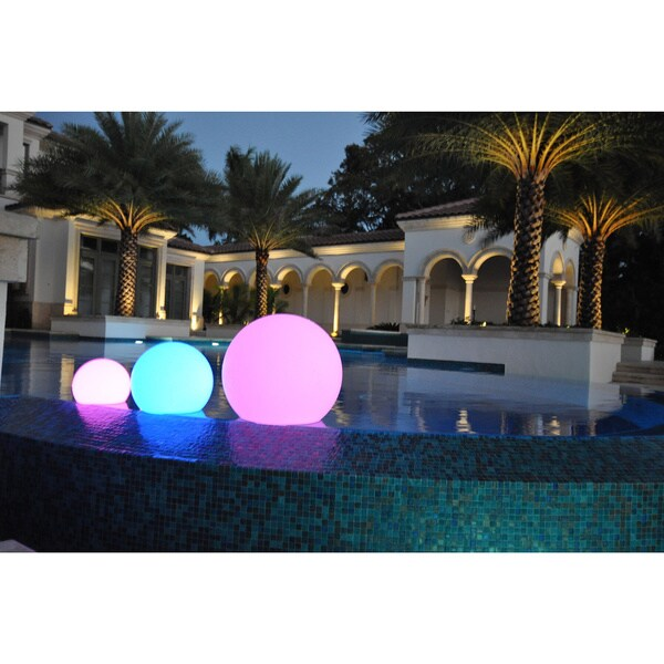 PublicLight LED Illuminated All-in-1 Floor, Hanging, and Floating Sphere Lantern Orb Light