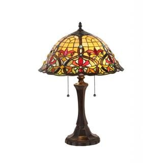 Tiffany-style Style Victorian Design 2-light Table Lamp