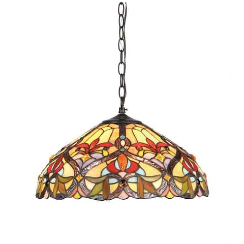Tiffany Style Victorian Design 2-light Pendant