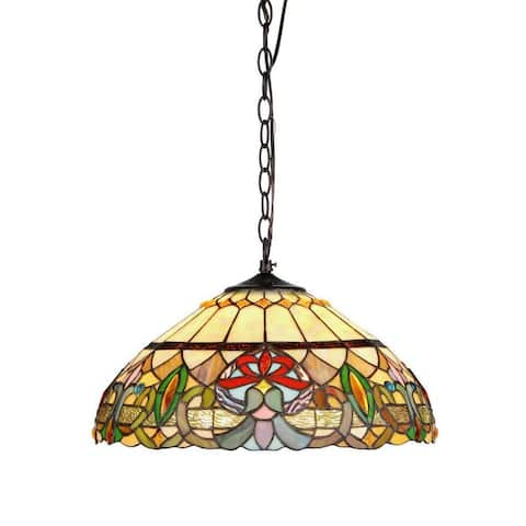 Tiffany Style Victorian Design 2-light Hanging Pendant