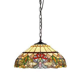 Chloe Tiffany Style Victorian Design 2-light Hanging Pendant