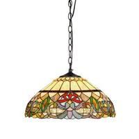 Chloe Tiffany Style Victorian Design 2-light Hanging Pendant