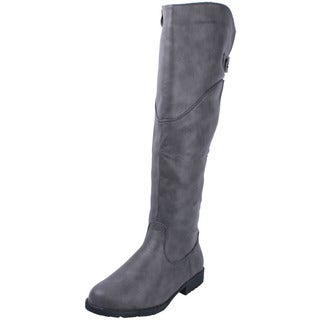 Anna Women's 'NB200-61' Notch Collar Knee-high Riding Boots