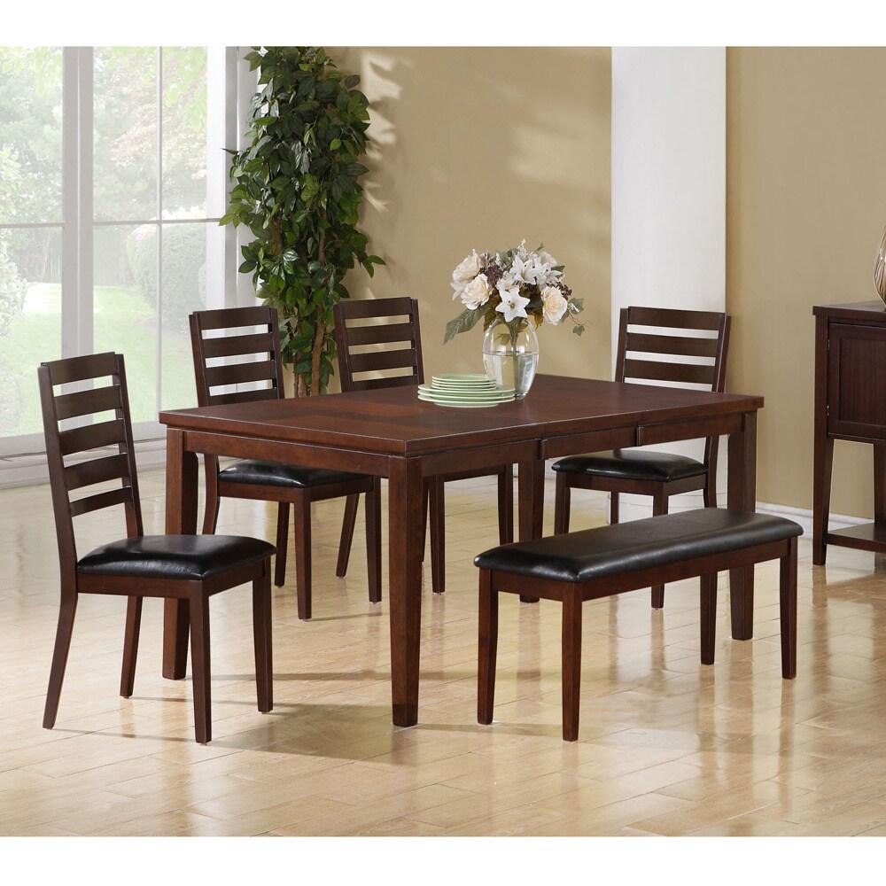 Dark Espresso Birch Veneer Dining Table Overstock 8682495