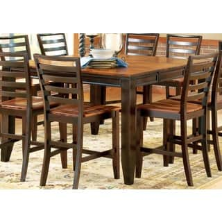 acacia two tone counter height dining set by greyson living - 8 Piece Dining Room Set