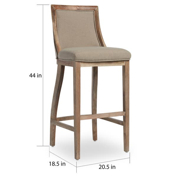 Phenomenal Shop The Gray Barn Park Avenue Beige Linen Bar Stool Free Unemploymentrelief Wooden Chair Designs For Living Room Unemploymentrelieforg