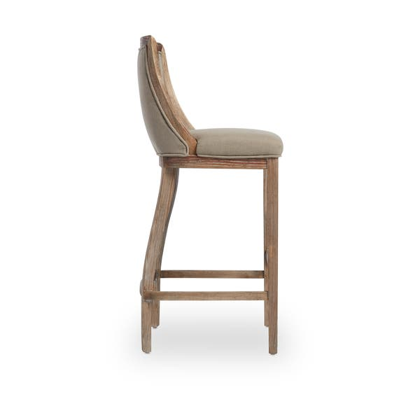 Surprising Shop The Gray Barn Park Avenue Beige Linen Bar Stool Free Unemploymentrelief Wooden Chair Designs For Living Room Unemploymentrelieforg