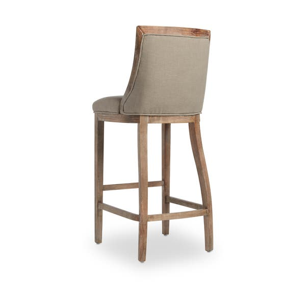 Enjoyable Shop The Gray Barn Park Avenue Beige Linen Bar Stool Free Unemploymentrelief Wooden Chair Designs For Living Room Unemploymentrelieforg