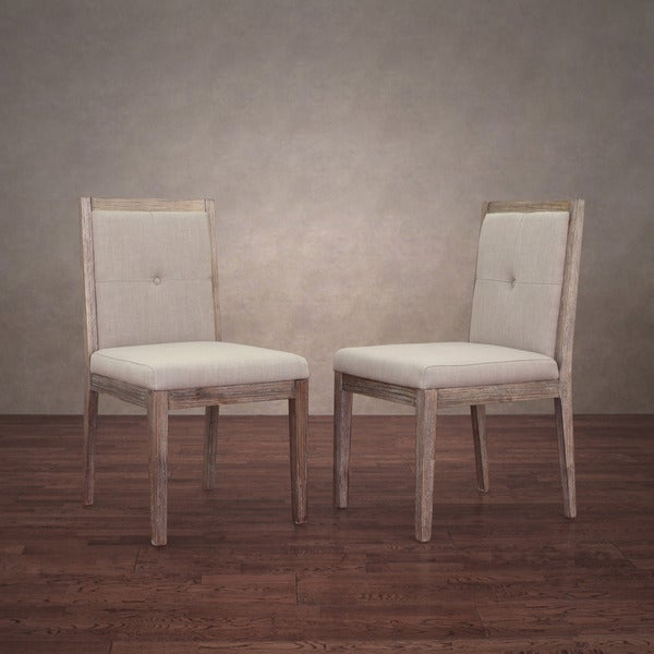 patterson beige linen dining chairs set of 2 free shipping today